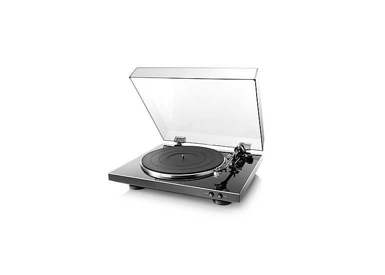Schwarzer Denon DP-300F Plattenspieler zu kaufen im Hi-Fi-Studio Singer
